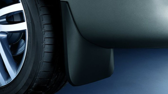 Mud Flaps Rear Matt Black Not In Conjunction With