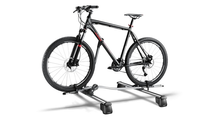 Bicycle rack for roof rack