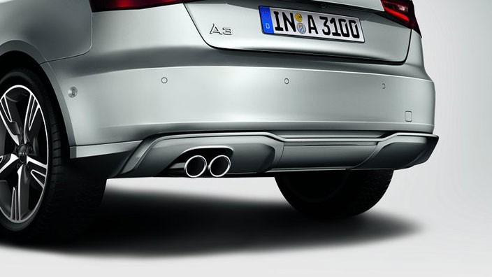 Aerodynamic attachment parts trim for bumper (use in conjunction with 8V3071610  9AX or 8V4071610  9AX)  single tail pipe