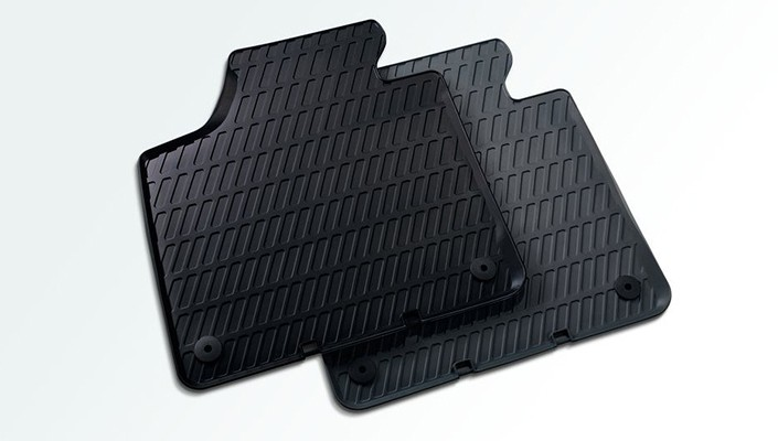 Rubber floor mats  Front, black