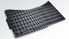 Q5 Rubber floor mats, front (black)