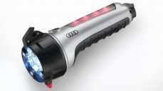 Emergency tool Torch with alarm light, car glass hammer, seat belt cutter & magnetic holder