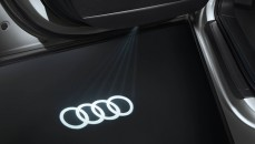 LED quattro design for entry area for vehicles with standard halogen entry lighting  Audi rings
