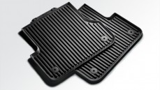 Rubber floor mats, rear (black)