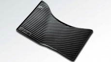 Rubber floor mats, front (black)