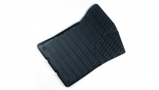 Rubber floor mats  Rear, black