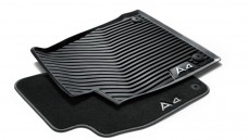 All-weather floor mats set of 2, rear, black
