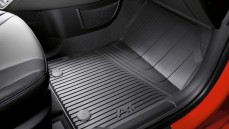 Rubber Floor Mats: Front - Black