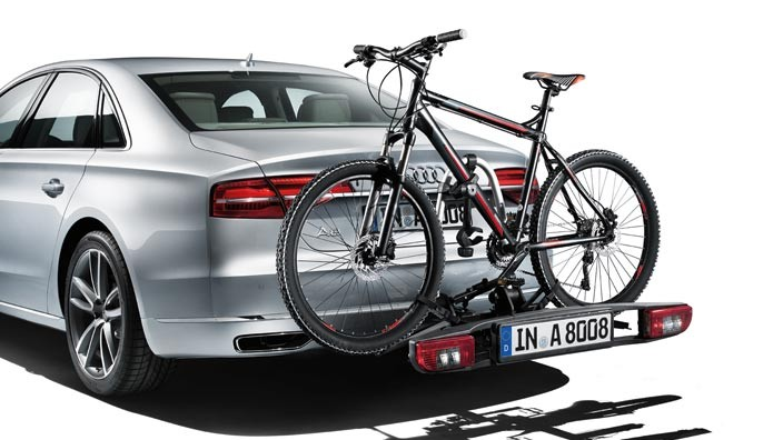 Bicycle rack for the trailer towing hitch (for 2 bicycles)  new version (extendable)